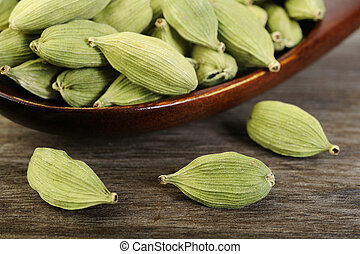 cardamom pods  - green cardamom pods