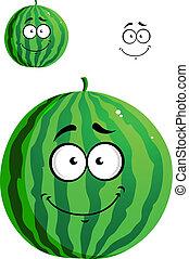 Green cartoon watermelon