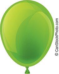 Green celebration balloon.