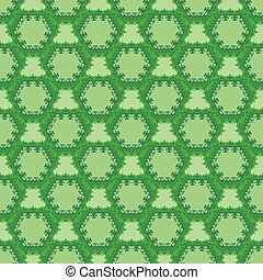green cell seamless pattern