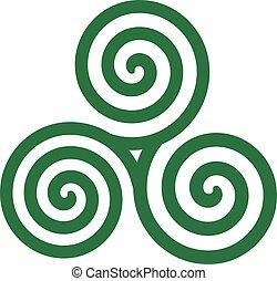 Green celtic spiral
