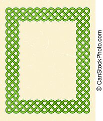 Green celtic style frame - Traditional green celtic style...