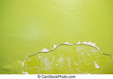 Green cement wall texture background.