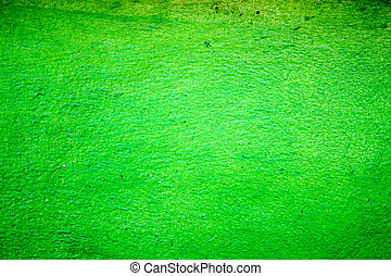 green cement wall texture background, vignette corner