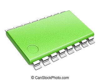 Green Central Processor unit concept. eco concept - Green ...