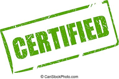 Green certified stamp