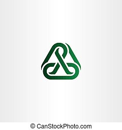 green chain icon vector link logo