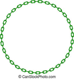 Green chain in shape of circle