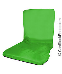 green chair isolated on the white