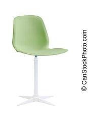 green chair isolated on white