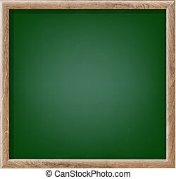 Green Chalk Board With Gradient Mesh, Vector Illustration