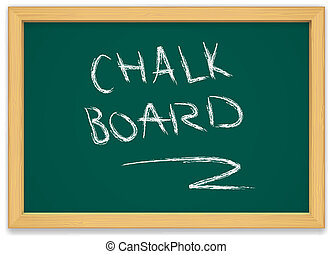 chalk board - green chalk board with wooden frame