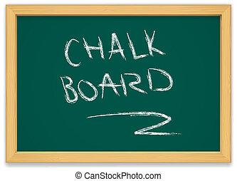 chalk board - green chalk board with wooden frame