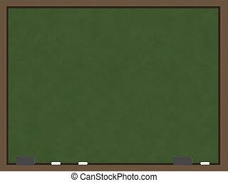 Green Chalkboard - A blank chalkboard with a green slate ...
