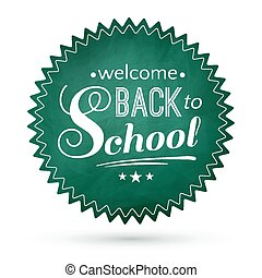 Green chalkboard Back to School
