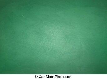 Green chalkboard background. - Green grunge chalkboard...