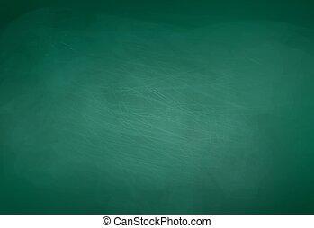 Green chalkboard background. Vector illustration.