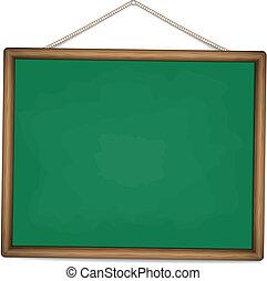 green chalkboard