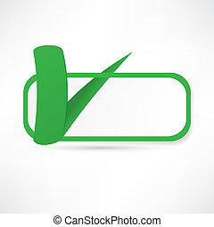 Green check box with check mark