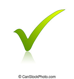 Green check mark - Illustration of a green check mark sign