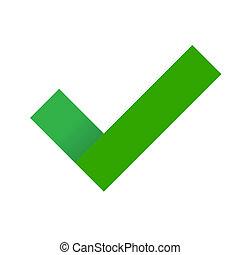 Green Check Mark. Vector