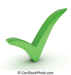 Green check mark. Vector illustration