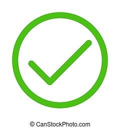 Green check mark. Vector illustration.