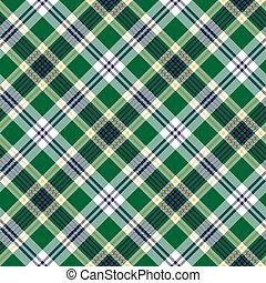 Green check tartan fabric texture seamless pattern. Vector ...
