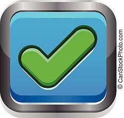 Green check vector button