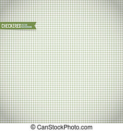 Green Checkered Pattern Vector