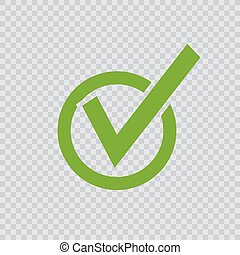 green checkmark icon.