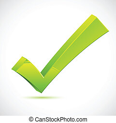 Green Checkmark - illustration of green checkmark on...