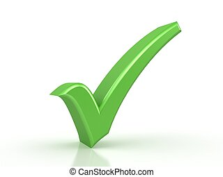 green checkmark on white background