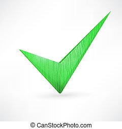 green checkmark.