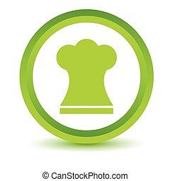 Green Chef hat icon