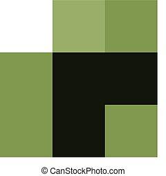 Green chicken on white background
