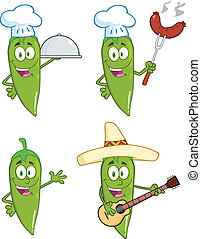 Green Chili Peppers 1 Collection - Green Chili Peppers...