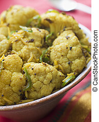 Green Chilli Fried Cauliflower