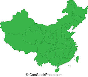 Green China map