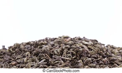 Green Chinese tea - Leaves of green Chinese tea
