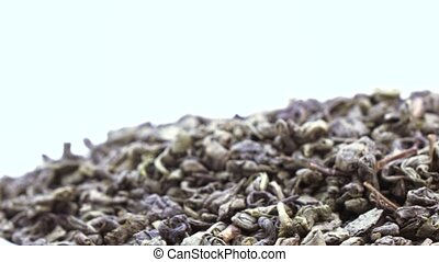 Green Chinese teas - Leaves of green Chinese tea
