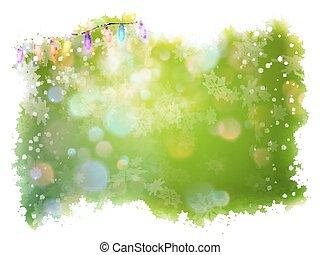 Green christmas background. EPS 10