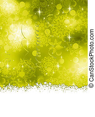 Green Christmas Background. EPS 8