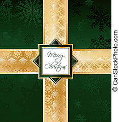 Green Christmas Background. Vector
