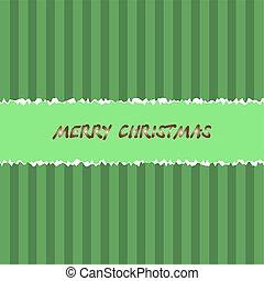 Green christmas background. Vector illustration