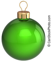 Green Christmas ball bauble classic