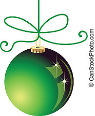 Green Christmas ball vector stock