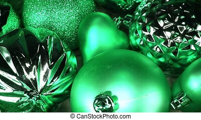 Green Christmas bauble ball baubles balls ornaments xmas...