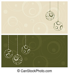 green christmas card background
