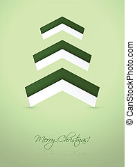 Green christmas card with abstract elements